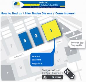 SARIV a Fastener Fair 2017_Mappa