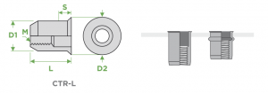 inserti-filettati-sariv-CTR-L-cilindrici-testa-ridotta-corpo-liscio-sezione-impiego
